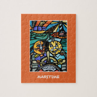 Maritime - Time PIeces Bright Colors Jigsaw Puzzle
