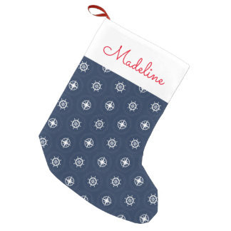 Maritime Tool Pattern | Add Your Name Small Christmas Stocking