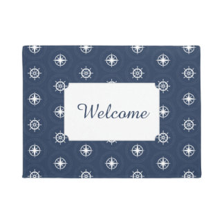 Maritime Tool Pattern | Add Your Text Doormat