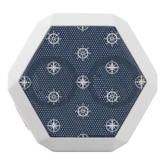 Maritime Tool Pattern White Bluetooth Speaker