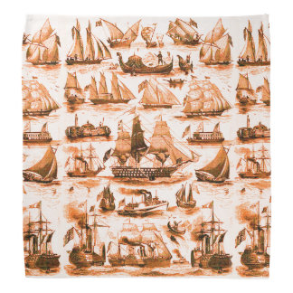 MARITIME,VINTAGE SHIPS,SAILING VESSELS,Brown White Do-rag