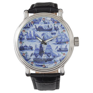 MARITIME,VINTAGE SHIPS,SAILING VESSELS,Navy Blue Watches