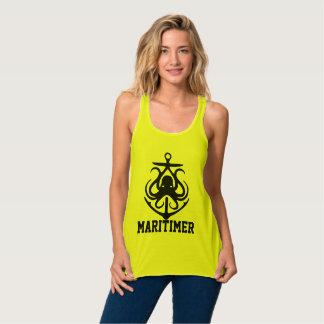 Maritimer Anchor octopus Nautical Lighthouse Route Tank Top