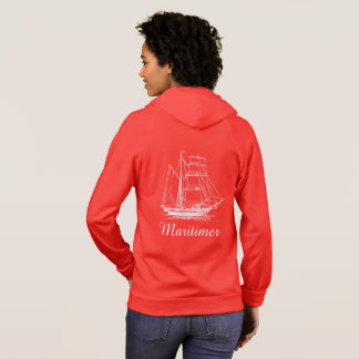 Maritimer nautical sailing ship boat hoodie