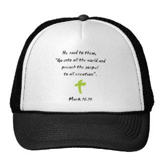 Mark 16.15 hats
