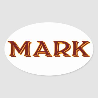 Mark #2 oval sticker