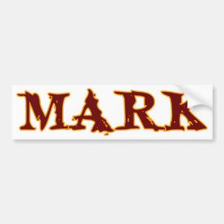 Mark #3 bumper sticker