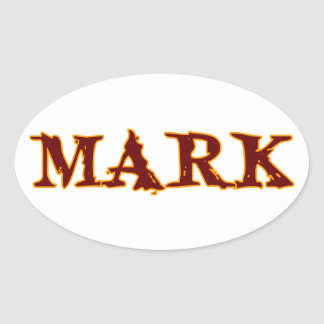 Mark #3 oval sticker