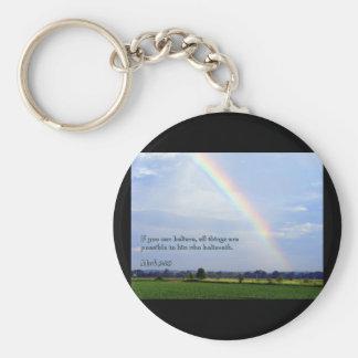 Mark 9:23 Rainbow Keychains