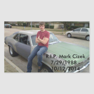 Mark Cizek Rectangular Sticker