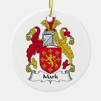 Mark Family Crest Christmas Tree Ornament