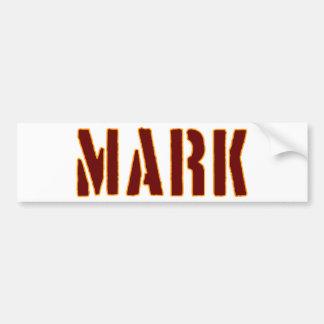 Mark in Military Style Stencil Bumper Sticker