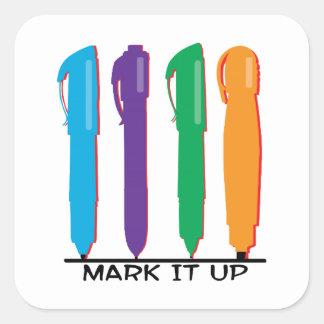 Mark It Up Square Sticker