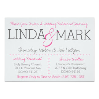 Mark & Linda Rehearsal Card