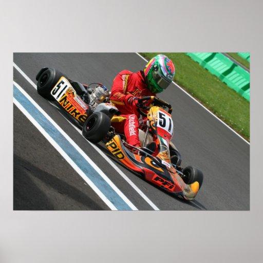 Mark Litchfield Karting Poster