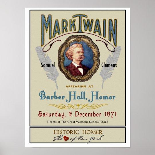 Mark Twain at Barber Hall Historic Homer NY