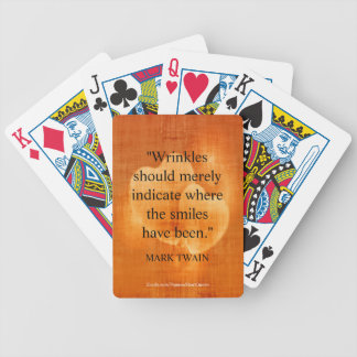 Mark Twain Birthday Quote With Hearts Bicycle Playing Cards