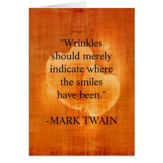 Mark Twain Birthday Quote With Hearts Card