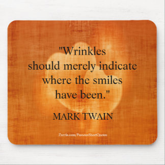 Mark Twain Birthday Quote With Hearts Mouse Mat