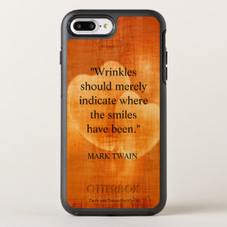 Mark Twain Birthday Quote With Hearts OtterBox Symmetry iPhone 8 Plus/7 Plus Case