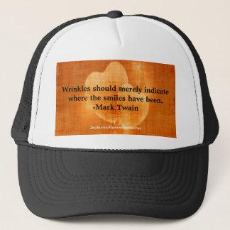 Mark Twain Birthday Quote With Hearts Trucker Hat