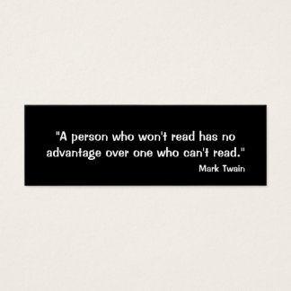 Mark Twain Bookmark Mini Business Card
