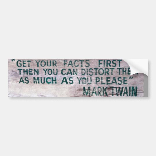 Mark Twain bumper sticker