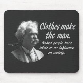 Mark Twain: Clothes Make the Man Mouse Pad