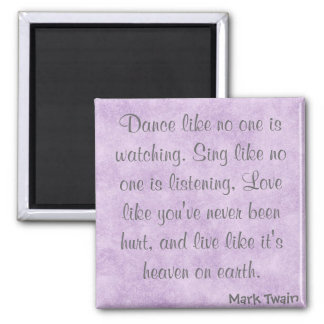 Mark Twain Quote Fridge Magnet