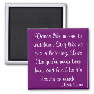 Mark Twain Quote Refrigerator Magnet
