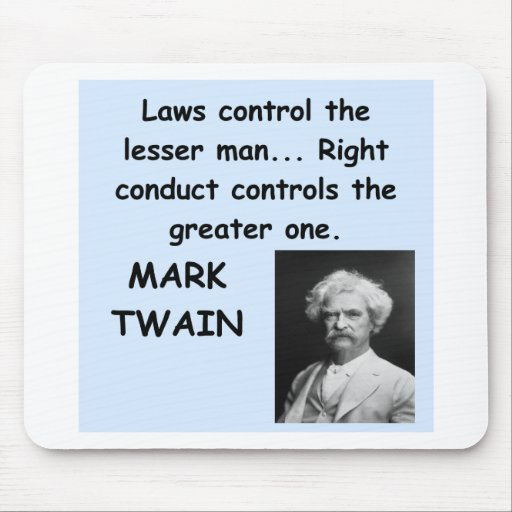 Mark Twain quote Mousepads