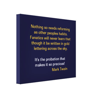 Mark Twain Saying on Wrapped Canvas Stretched Canvas Print