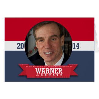 MARK WARNER CAMPAIGN GREETING CARD
