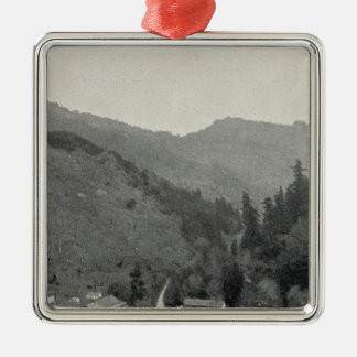 Mark West Hot Springs, California Silver-Colored Square Decoration
