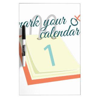 Mark Your Calendar Dry Erase Whiteboard