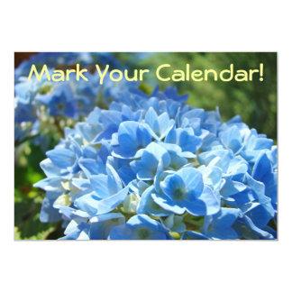Mark Your Calendar! Invitation Cards Hydrangeas