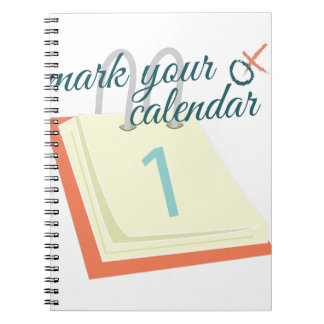 Mark Your Calendar Note Books