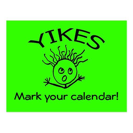 Mark your calendar! postcard