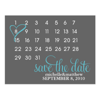 Mark Your Calendar Wedding Announcement Postcard