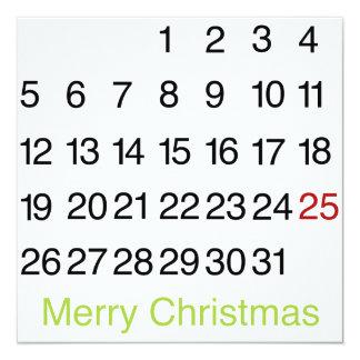 Mark Your Calendars Christmas Flat Card 13 Cm X 13 Cm Square Invitation Card