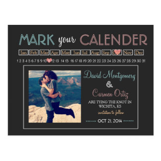 Mark your Calender Save the Date Post Cards
