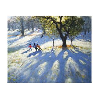 Markeaton Park early snow Canvas Print