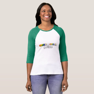 Marker Pride Baseball Tee for female-shaped bodies