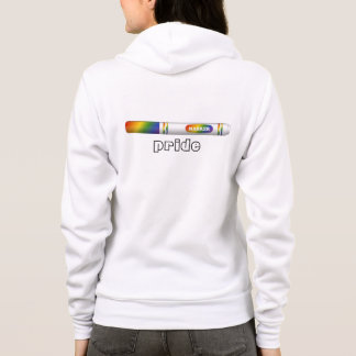 Marker Pride Hoodie for female-shaped bodies