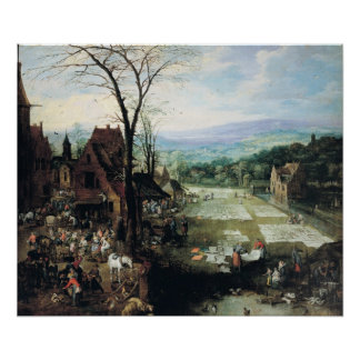 Market and Bleaching Ground, 1620-22 Poster
