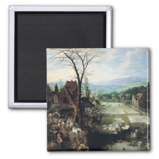 Market and Bleaching Ground, 1620-22 Square Magnet