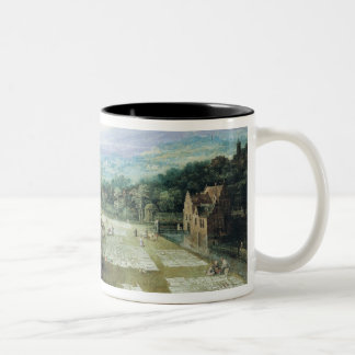 Market and Bleaching Ground, 1620-22 Two-Tone Coffee Mug