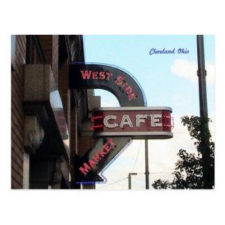 Market Cafe Sign, Cleveland Ohio postcard
