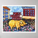 Market Centre Pig Poster
