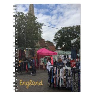 Market England Spiral Note Book